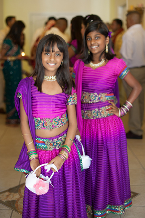 Indian wedding flower girls in Orlando, Florida Fusion Wedding by Garrett Frandsen