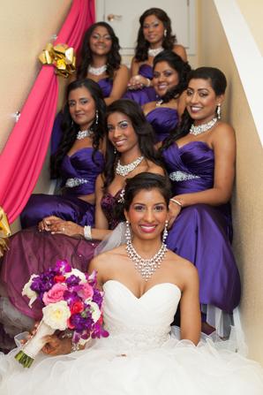 Indian wedding fusion bridal party in Orlando, Florida Fusion Wedding by Garrett Frandsen