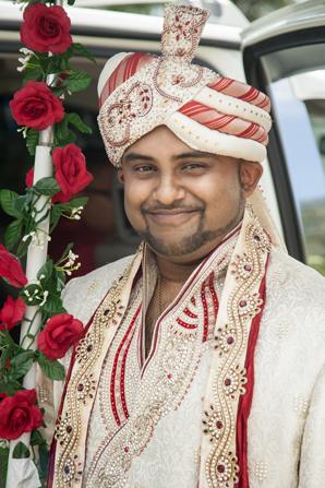 Indian wedding groom portrait in Orlando, Florida Fusion Wedding by Garrett Frandsen
