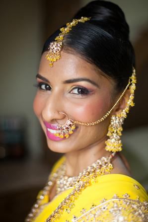 Indian wedding hair makeup in Orlando, Florida Fusion Wedding by Garrett Frandsen