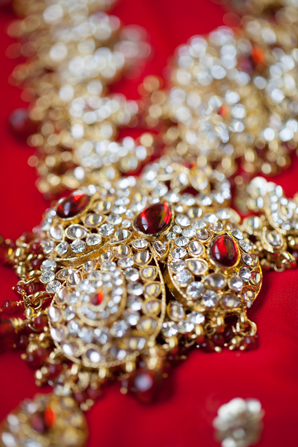 Indian wedding jewelry tradtiional in Orlando, Florida Fusion Wedding by Garrett Frandsen