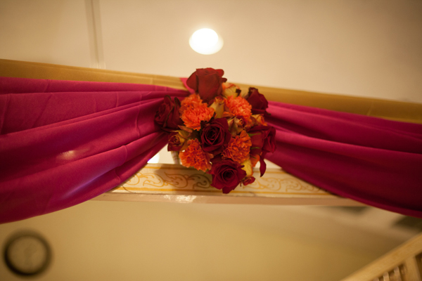 Indian wedding mandap decor floral in Orlando, Florida Fusion Wedding by Garrett Frandsen