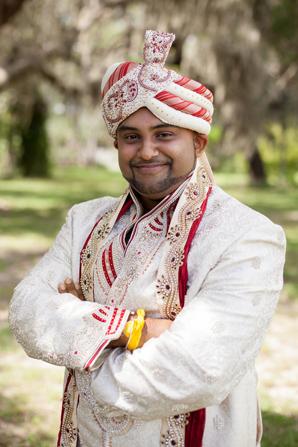 Indian wedding photo groom in Orlando, Florida Fusion Wedding by Garrett Frandsen