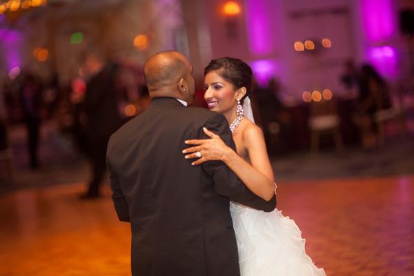 Indian wedding reception ballgown in Orlando, Florida Fusion Wedding by Garrett Frandsen