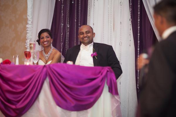 Indian wedding reception bride groom in Orlando, Florida Fusion Wedding by Garrett Frandsen