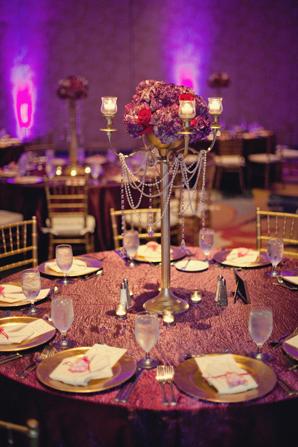 Indian wedding reception decor in Orlando, Florida Fusion Wedding by Garrett Frandsen