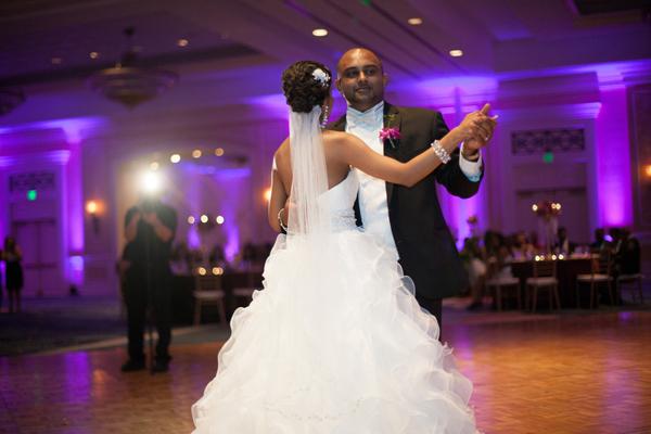 Indian wedding reception gown in Orlando, Florida Fusion Wedding by Garrett Frandsen