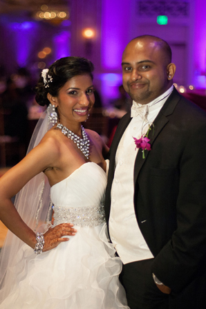 Indian wedding reception photos in Orlando, Florida Fusion Wedding by Garrett Frandsen