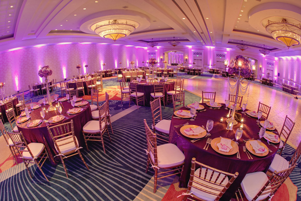 Indian wedding reception venue design in Orlando, Florida Fusion Wedding by Garrett Frandsen