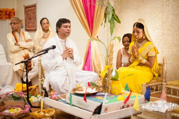 Indian wedding sangeet gaye holud in Orlando, Florida Fusion Wedding by Garrett Frandsen