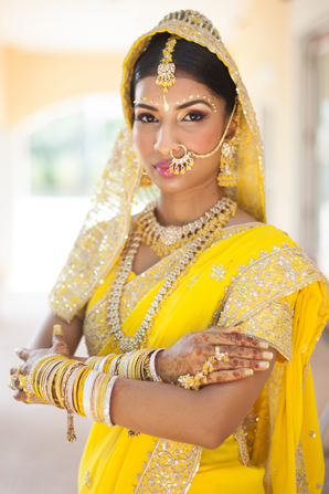 Indian wedding sangeet outfit in Orlando, Florida Fusion Wedding by Garrett Frandsen