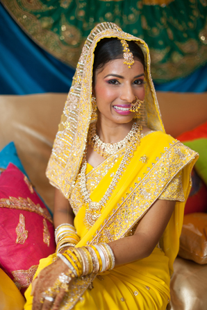 Indian wedding sangeet portrait in Orlando, Florida Fusion Wedding by Garrett Frandsen