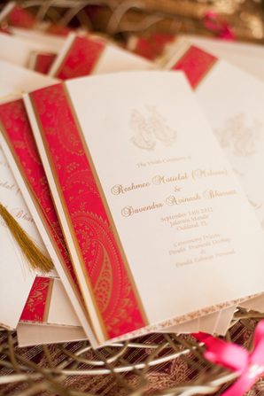 Indian wedding stationary cards in Orlando, Florida Fusion Wedding by Garrett Frandsen