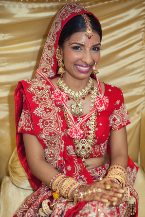 Indian wedding traditional lengha in Orlando, Florida Fusion Wedding by Garrett Frandsen