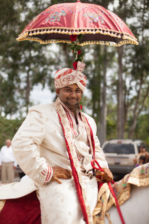 Indian wedding tradition baraat in Orlando, Florida Fusion Wedding by Garrett Frandsen