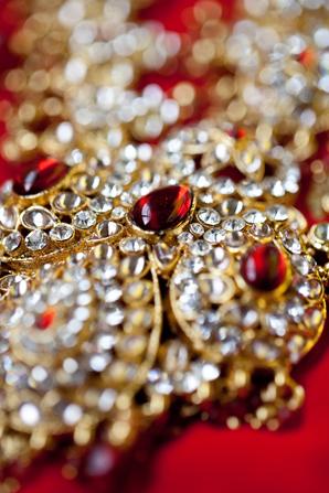 Indian wedding traditional bridal jewelry in Orlando, Florida Fusion Wedding by Garrett Frandsen