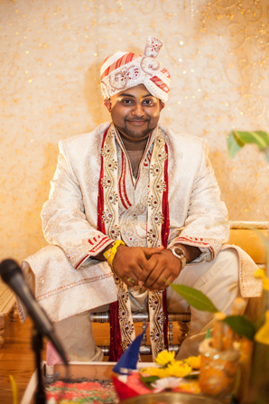 Indian wedding traditional groom in Orlando, Florida Fusion Wedding by Garrett Frandsen