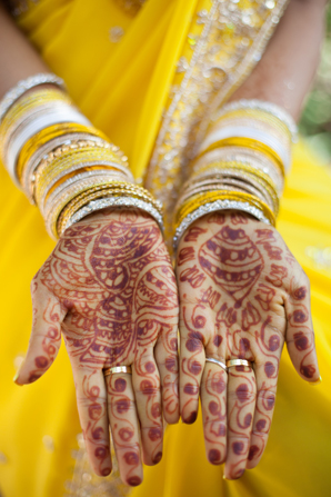 Indian wedding traditional mehndi in Orlando, Florida Fusion Wedding by Garrett Frandsen