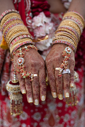 Indian wedding tradtional jewelry in Orlando, Florida Fusion Wedding by Garrett Frandsen