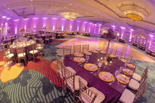 Indian wedding venue planning design in Orlando, Florida Fusion Wedding by Garrett Frandsen