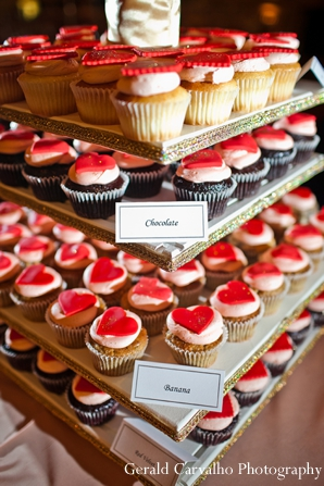 Indian wedding reception cupcakes sweets ideas in San Mateo, California Indian Wedding by Gerald Carvalho Photography