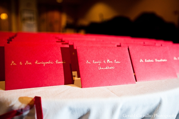 north new jersey,red,registry,indian wedding invitations,indian wedding reception,indian wedding inspiration,gerald carvalho photography,reception name card