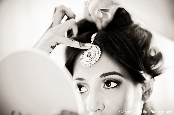new york city - manhattan,registry,indian bridal hair and makeup,indian bride,black and white photography,indian bride getting ready,gerald carvalho photography