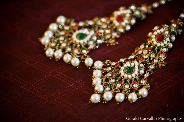 Indian wedding ceremony bridal jewelry in San Mateo, California Indian Wedding by Gerald Carvalho Photography
