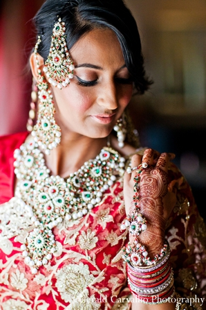 Indian wedding bride ceremony hindu lengha in San Mateo, California Indian Wedding by Gerald Carvalho Photography