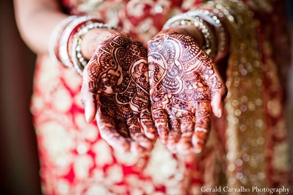 Indian wedding bride ceremony hindu lengha henna in San Mateo, California Indian Wedding by Gerald Carvalho Photography