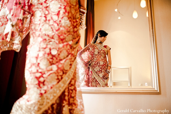 Indian wedding bride ceremony hindu lengha inspiration in San Mateo, California Indian Wedding by Gerald Carvalho Photography