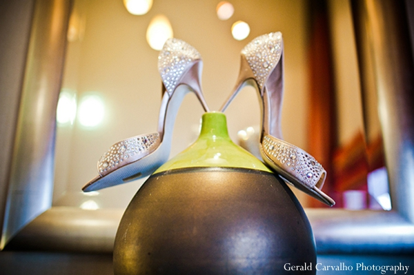 Indian wedding bridal shoes fashion inspiration in San Mateo, California Indian Wedding by Gerald Carvalho Photography