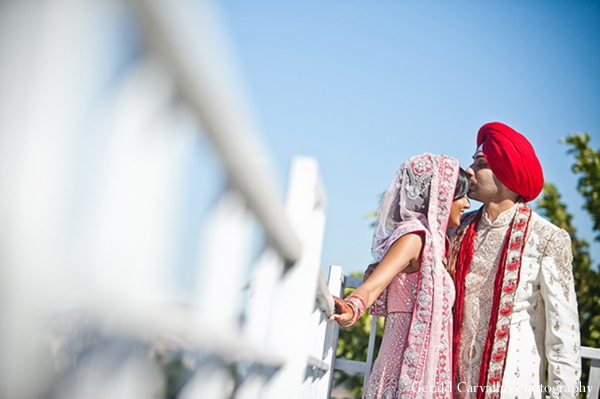Indian wedding bride and groom outdoor portraits in San Mateo, California Indian Wedding by Gerald Carvalho Photography