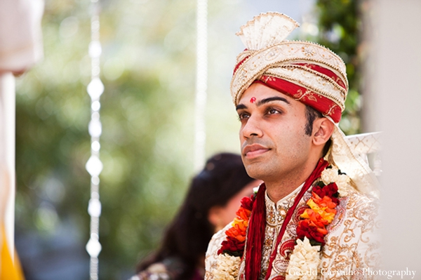 Indian wedding outdoor hindu ceremony venue groom in San Mateo, California Indian Wedding by Gerald Carvalho Photography