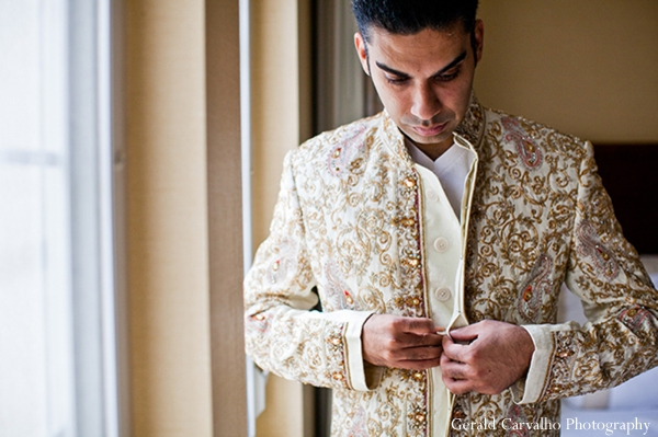 Indian wedding groom traditional sherwani ceremony in San Mateo, California Indian Wedding by Gerald Carvalho Photography