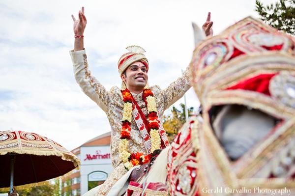 Indian wedding groom baraat celebration in San Mateo, California Indian Wedding by Gerald Carvalho Photography