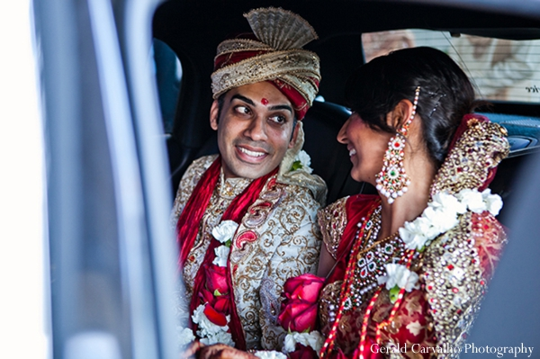 Indian wedding bride groom traditional dress in San Mateo, California Indian Wedding by Gerald Carvalho Photography