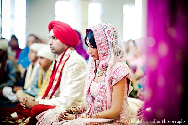 Indian wedding bride groom sikh ceremony in San Mateo, California Indian Wedding by Gerald Carvalho Photography
