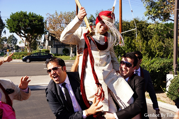 Indian wedding baraat groom photography in Newport Beach, CA Indian Wedding by Getshot By Tuhan