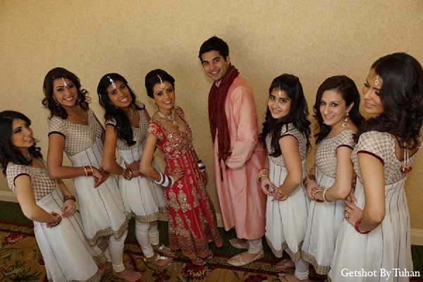Indian wedding bride bridal party in Newport Beach, CA Indian Wedding by Getshot By Tuhan