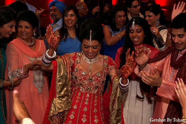 Indian wedding bride dance reception in Newport Beach, CA Indian Wedding by Getshot By Tuhan