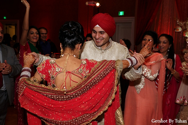 Indian wedding bride groom dance reception in Newport Beach, CA Indian Wedding by Getshot By Tuhan