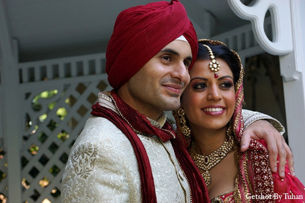 Indian wedding bride groom portraits in Newport Beach, CA Indian Wedding by Getshot By Tuhan