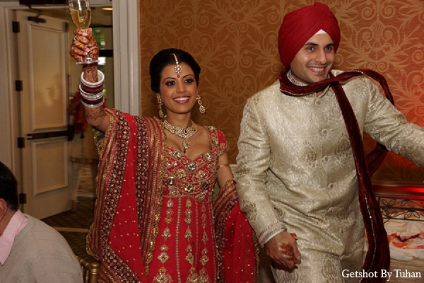 Indian wedding bride groom reception entrance in Newport Beach, CA Indian Wedding by Getshot By Tuhan