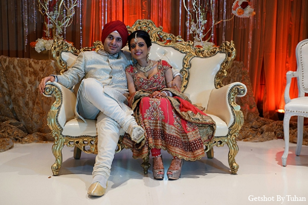 Indian wedding bride groom reception loveseat in Newport Beach, CA Indian Wedding by Getshot By Tuhan