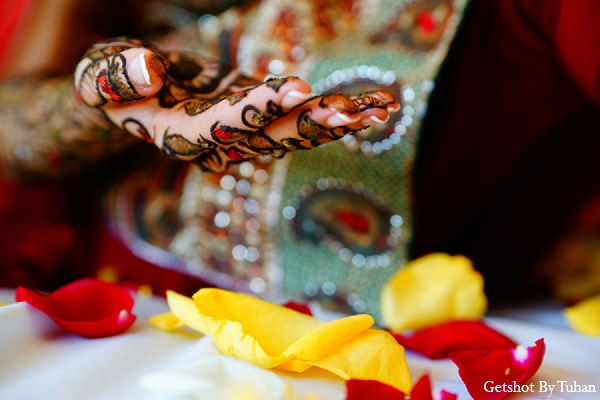 Indian wedding bride mehndi photography in Newport Beach, CA Indian Wedding by Getshot By Tuhan