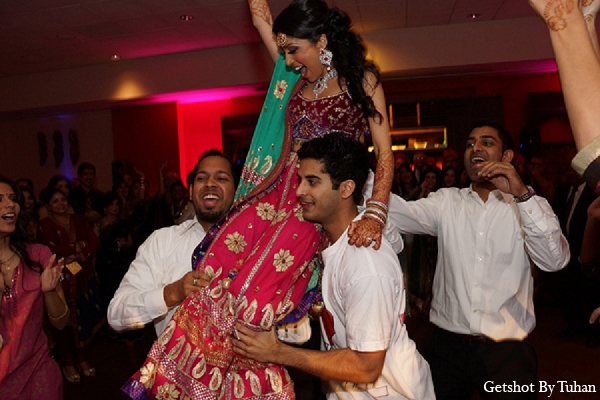 Indian wedding bride sangeet dance in Newport Beach, CA Indian Wedding by Getshot By Tuhan