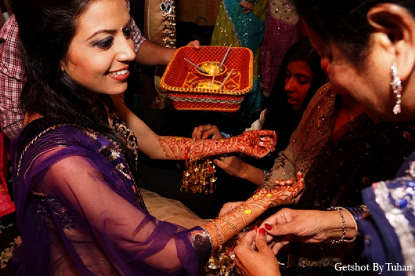 Indian wedding menhndi night tradition bride in Newport Beach, CA Indian Wedding by Getshot By Tuhan