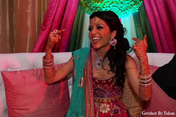 Indian wedding sangeet bride fashion in Newport Beach, CA Indian Wedding by Getshot By Tuhan