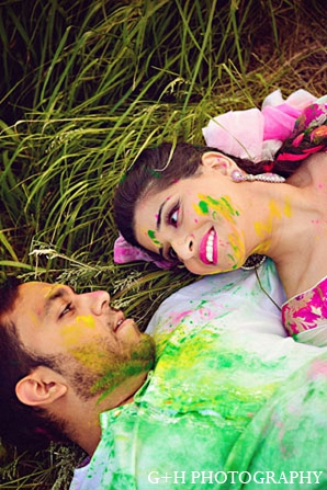 Indian bride groom engagement photography in G + H Photography Engagement Inspiration Shoot